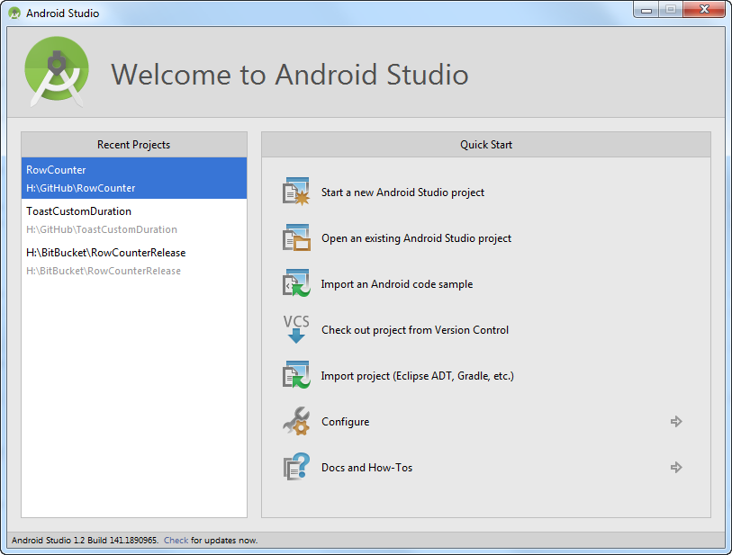 AndroidStudioWelcome