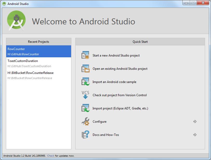 AndroidStudioWelcome